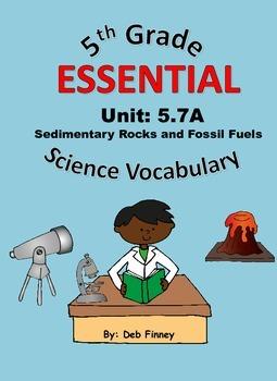 5th Grade Essential Vocabulary 5.7A Sedimentary Rocks