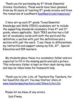 5th Grade Essential Vocabulary 5.7B Landforms