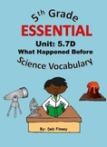 5th Grade Essential Vocabulary 5.7D Fossils