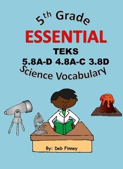 5th Grade Essential Vocabulary 5.8 A-D 4.8 A-C 3.8D