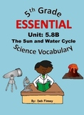 5th Grade Essential Vocabulary 5.8B The Sun and Water Cycle