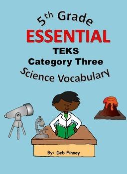 5th Grade Essential Vocabulary Category Three 5.7 - 5.8