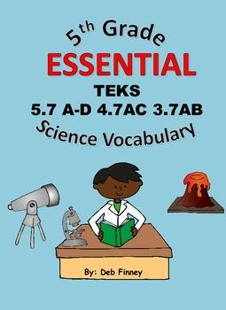 5th Grade Essential Vocabulary 5.7A-D 4.7 AC 3.7AB