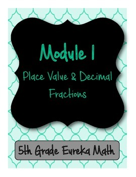 5th Grade Eureka/Engage NY Binder Front and Back Covers with Spines