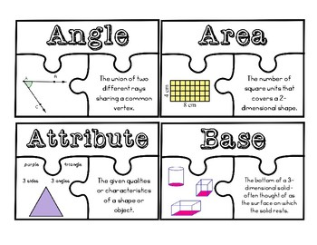 5th Grade Eureka/Engage NY  Module 5 Vocabulary Jigsaw Puzzles