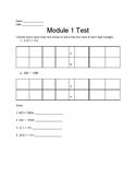 5th Grade Eureka Math End of Module Test 1-6