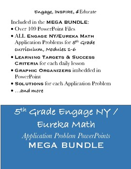 5th Grade Eureka Math / Engage NY Application Problems: MEGA BUNDLE