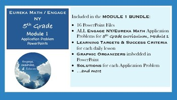 5th Grade Eureka Math / Engage NY Application Problems: Module 1