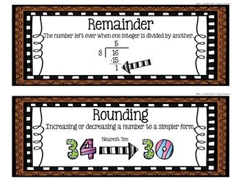 5th Grade Eureka Math EngageNY Word Wall: Module 2