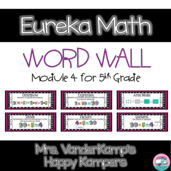 5th Grade Eureka Math EngageNY Word Wall: Module 4