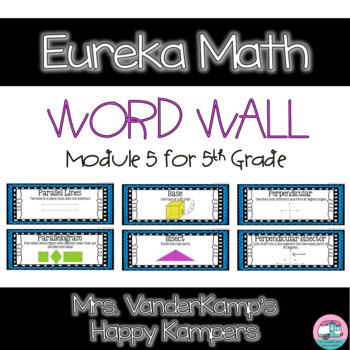5th Grade Eureka Math EngageNY Word Wall: Module 5