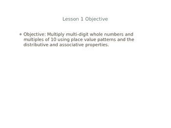 5th Grade Eureka Math Lesson Module 2 Lesson 1 Multiplication