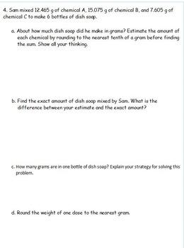 5th Grade Eureka Math Module 1 Practice Assessments 3