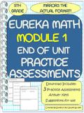 5th Grade Eureka Math Module 1 Practice Assessments / 3 Te