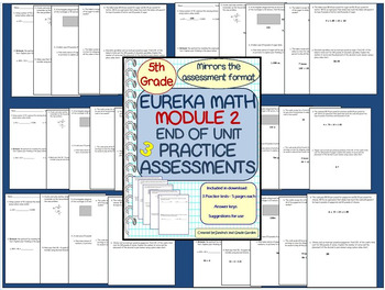 5th Grade Eureka Math Module 2 End of Unit Practice Assessments