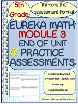 5th Grade Eureka Math Module 3 End of Unit Practice Assessments