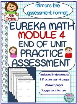 Math module 4 teaching resources teachers pay teachers 5th grade eureka math module 4 end of unit practice test fandeluxe Choice Image