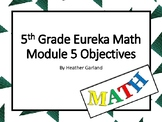 5th Grade Eureka Math Module 5 Objectives