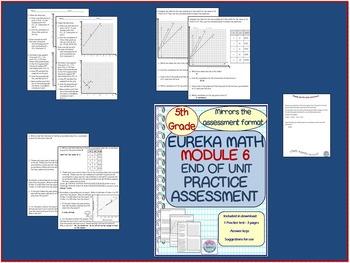 5th Grade Eureka Math Module 6 Practice Assessment Test. Mirrors Test  Format