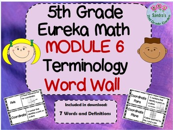 5th Grade Eureka Math Module 6 Word Wall With Definitions