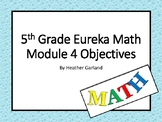 5th Grade Eureka Math Module Four Objectives