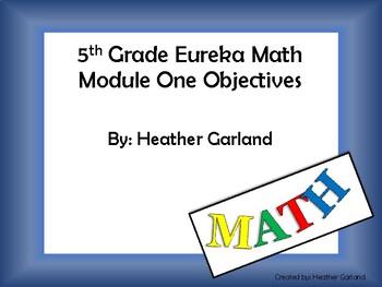 5th Grade Eureka Math Module One Objectives