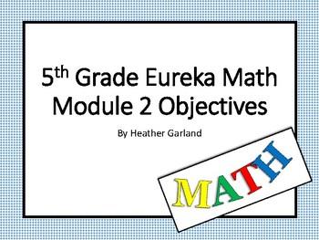 5th Grade Eureka Math Module Two Objectives