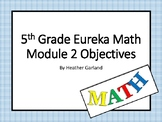 5th Grade Eureka Math Module Two Objectives