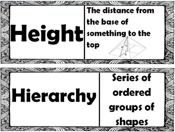 5th Grade Eureka Math Modules 4 & 5 Terminology Word Wall with Definitions