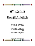 5th Grade Eureka Math Vocabulary Terms (Modules 1-6 **BUNDLED!**)