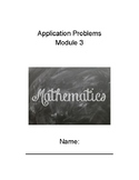5th Grade Eureka Module 3 Application Problems Packet (Fractions Word Problems)