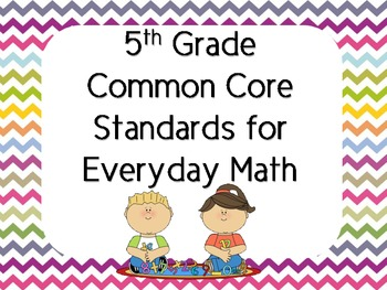5th Grade Everyday Math Common Core Standards