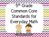 5th Grade Everyday Math Common Core Standards