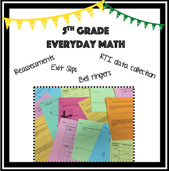 5th Grade Everyday Math Reassessments