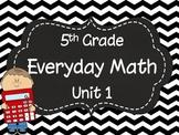 5th Grade Everyday Math Unit 1 Materials