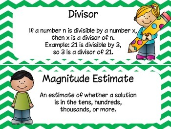 5th Grade Everyday Math Unit 4 Materials