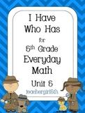 "5th Grade Everyday Math Unit 5 ""I Have Who Has"" Improper F"