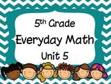 5th Grade Everyday Math Unit 5 Materials