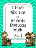 "5th Grade Everyday Math Unit 1 ""I Have Who Has"""