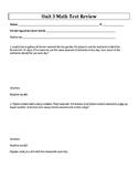 5th Grade Everyday Mathematics / EDM (4) / Math Unit 3 Tes
