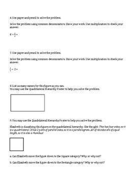 5th Grade Everyday Mathematics / EDM (4) / Math Unit 7 Test Review and Key