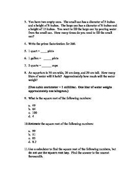 5th Grade Everyday Mathematics Unit 11 Review