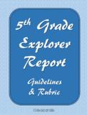 5th Grade Explorer Report