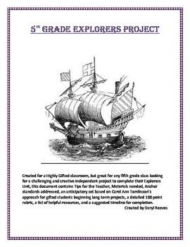 5th Grade Explorers Project