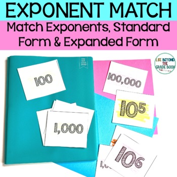 5th Grade Exponents Practice Matching Game