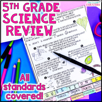 5th Grade Science Test Prep: Nature of Science, Earth, Life, Physical Science