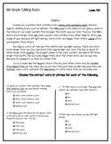 5th Grade FSA 2019 Editing Tasks - Science Content