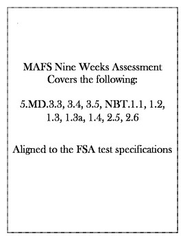 5th Grade FSA Aligned Nine Week Assessment