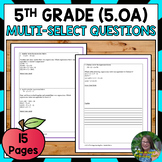 5th Grade Operations and Algebraic Thinking Test Prep
