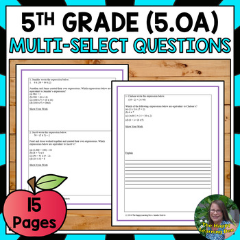 Operations and Algebraic Thinking Test Prep for 5th Grade